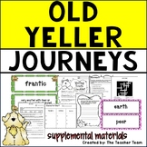 Old Yeller | Journeys 5th Grade Unit 2 Lesson 7 Printables