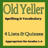 Old Yeller Vocabulary