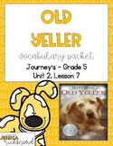 Old Yeller - Vocabulary Packet