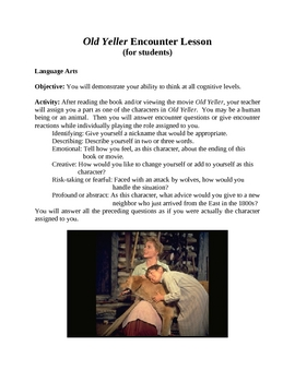 Old Yeller by Fred Gipson Encounter Lesson