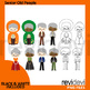 Old Young People Clip art Bundle / Multiculturalism clipart