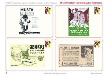 Old discriminative Finnish ads