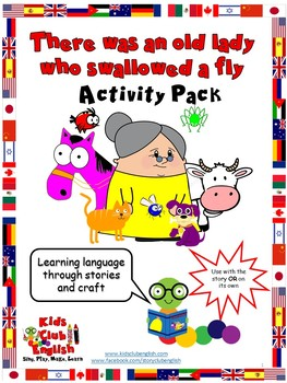 Old lady who swallowed a fly - Activity Pack - Crafts, activities and game cards