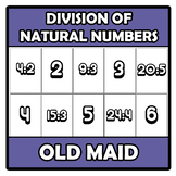 Old maid - Division of natural numbers