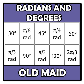 Old maid (Memory) - Radians to degrees
