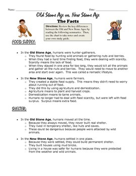 Old vs. New Stone Age Review Handout