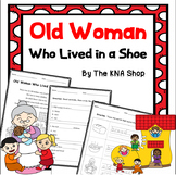 Old woman who lived in a shoe --- worksheets