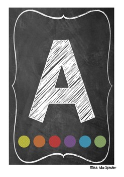 Rainbow Chalkboard Alphabet Display