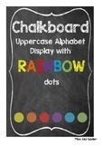 Rainbow Chalkboard Alphabet Display