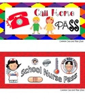 Older Kids Set of 10 Passes Bathroom Pass, Boys, Girls, Hall Pass Nurse