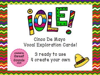 Ole! {Cinco De Mayo Vocal Exploration Cards FREEBIE}