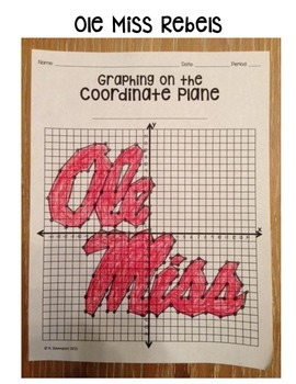 Ole Miss (Coordinate Graphing Activity)