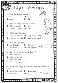 Olga the Brolga by Rod Clement ~ A week of reading activities