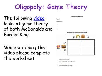 Oligopoly - Game Theory & Prisoners' Dilemma & Oligopolistic Pricing Strategies