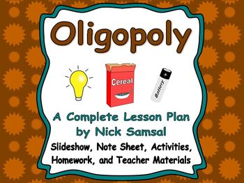 Oligopoly - Lesson Plan and Activities