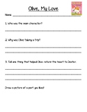 Olive My Love Book Discussion and Comprehension Questions