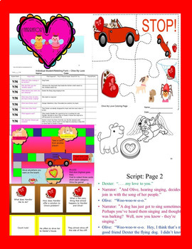 Olive My Love Reader's Theatre 2nd Grade CCSS ELA Activity Packet SPED