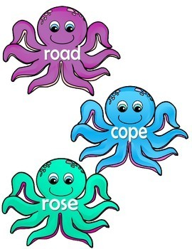 Phonics-Vowels - Octopus Vowels (Long & Short o)