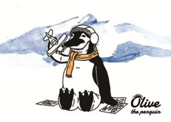 Olive The Penguin Greeting Cards