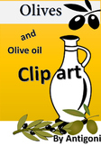 Olive  and olive oil clip arts