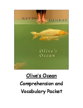 Olive's Ocean Comprehension and Vocabulary Packet