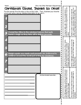 Olive, the Other Reindeer - Sequencing / Retelling