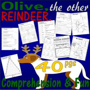Olive the Other Reindeer : Christmas Book Reading Comprehension 18pg Packet