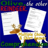 Olive the Other Reindeer : Christmas Book Reading Comprehension Multiple Choice