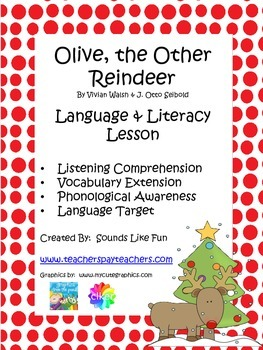 Language and Literacy Lesson: Olive, the Other Reindeer