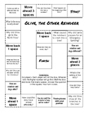 Olive, the Other Reindeer Comprehension Game Board