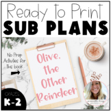 Winter Sub Plans | Olive the Other Reindeer