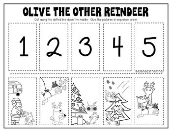 Olive the Other Reindeer Literacy & Math