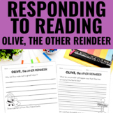 Reading Response Activities for Olive, the Other Reindeer