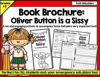 Oliver Button is a Sissy by Tomie DePaola book brochure or