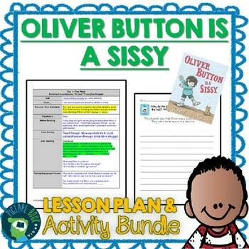 Oliver Button is a Sissy by Tomie dePaola Lesson Plan and Google Activities