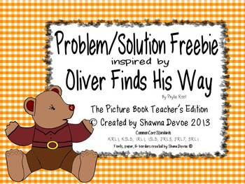 Problem Solution Freebie inspired by Oliver Finds His Way