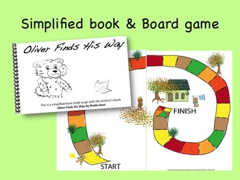 Oliver Finds His Way Activity Pack:  sequence, flannel pieces, game