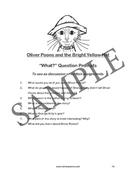 Oliver Poons Worksheets and Activities Pre-K through Grade 2