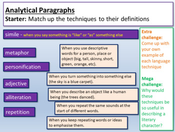 Oliver Twist - Analytical Paragraphs