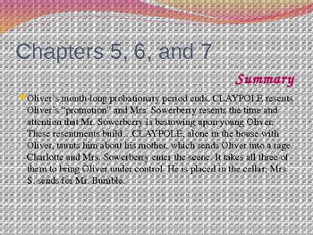 Oliver Twist  Chapters 1-11 PowerPoint
