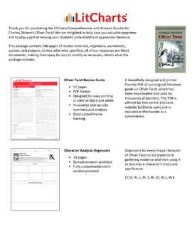 Oliver Twist – Comprehension and Analysis Bundle