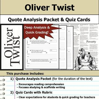 Oliver Twist - Quote Analysis & Reading Quizzes