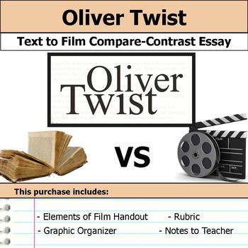 oliver twist teaching resources teachers pay teachers  oliver twist text to film essay bundle