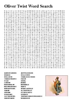 Oliver Twist Word Search