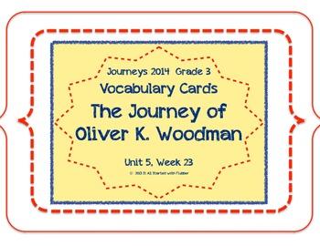 Journey of Oliver K. Woodman, Vocabulary Cards, Unit 5 Les