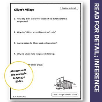 Oliver's Pioneer Village: A CDN Social Studies Reading Comp Lesson  Gr. 3-4