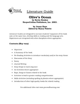 Olive's Ocean Literature Guide