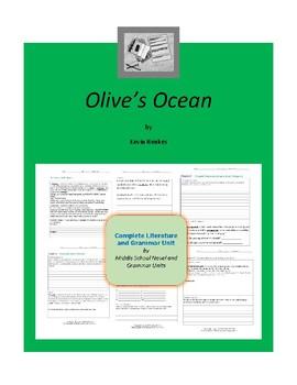 Olive's Ocean Complete Literature and Grammar Unit