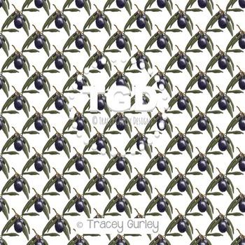 Olives digital paper Printable Tracey Gurley Designs