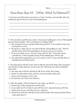 Olivia Bean, Trivia Queen by Donna Gephart:  14 Quizzes